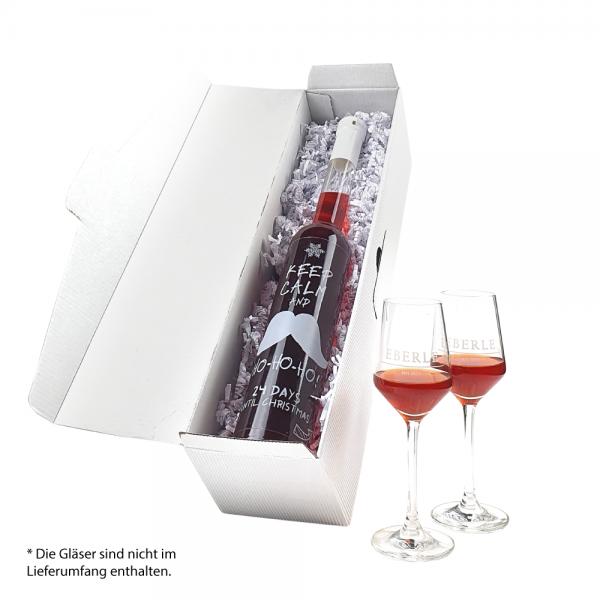 Adventskalender Countdown Flasche Granatapfel Likör mit Chili verfeinert 0,35 L