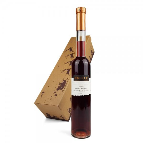 Amarena Kirsch Likör mit Schokoladennote 0,35 L im Geschenkkarton
