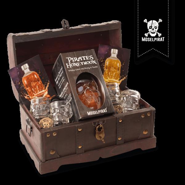 Piraten Truhe mit: Pirates Honeymoon 0,5 L
