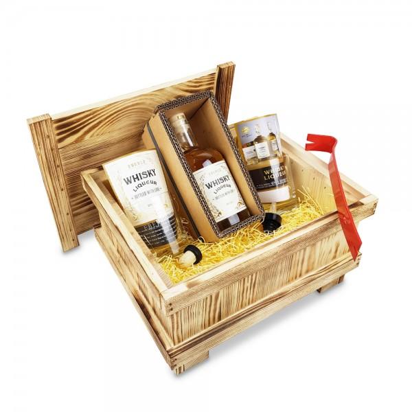 Whisky Liqueur 0,5L - Brecheisen-Kiste - geflammt