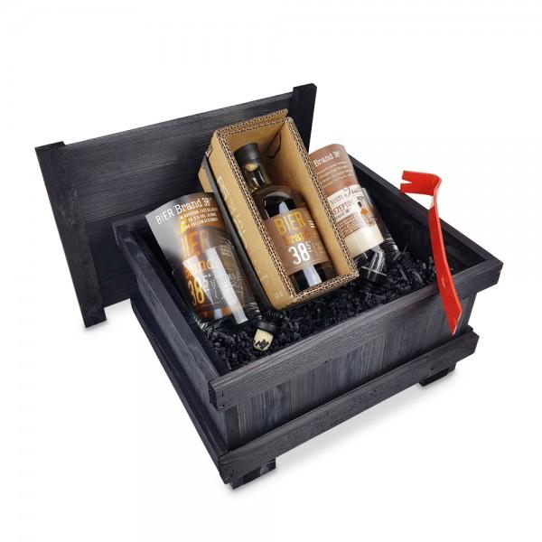 BIERBrand38,5 0,5L - Brecheisen-Kiste - schwarz