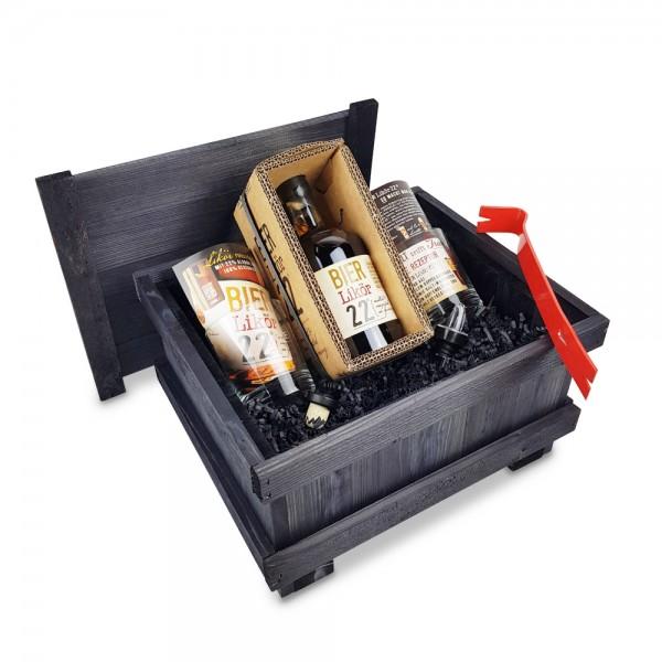 BIERLikör22 0,5L - Brecheisen-Kiste - schwarz